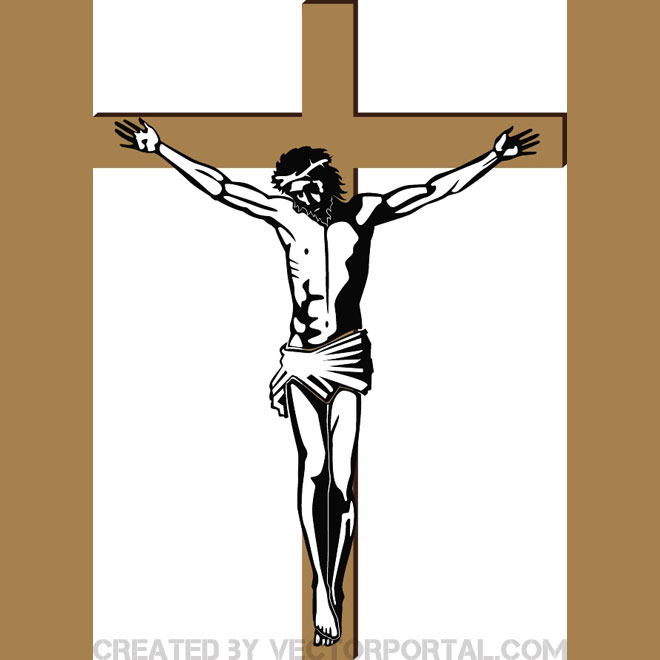 660x660 Jesus On The Cross Free Vector 123freevectors