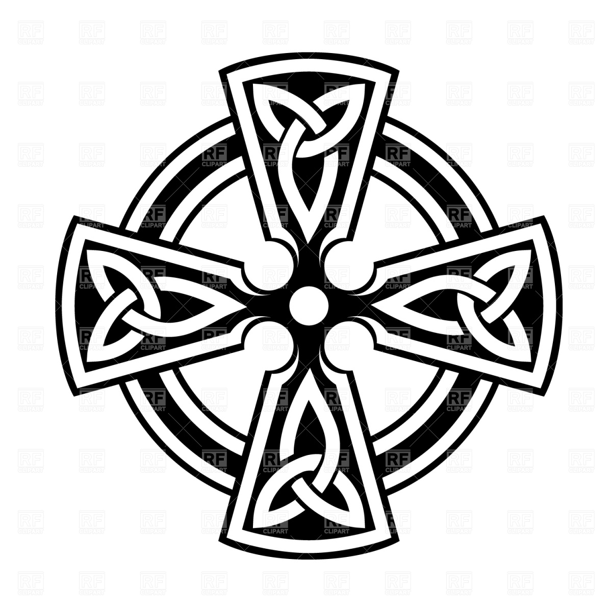 1200x1200 Celtic Cross Vector Image Vector Artwork Of Signs, Symbols, Maps