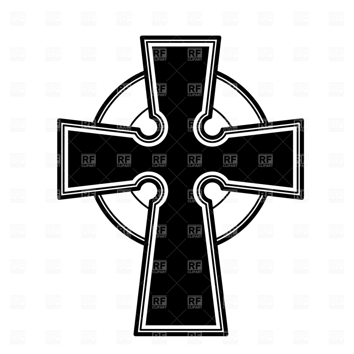 1200x1200 Celtic Cross Symbol Vector Image Vector Artwork Of Signs