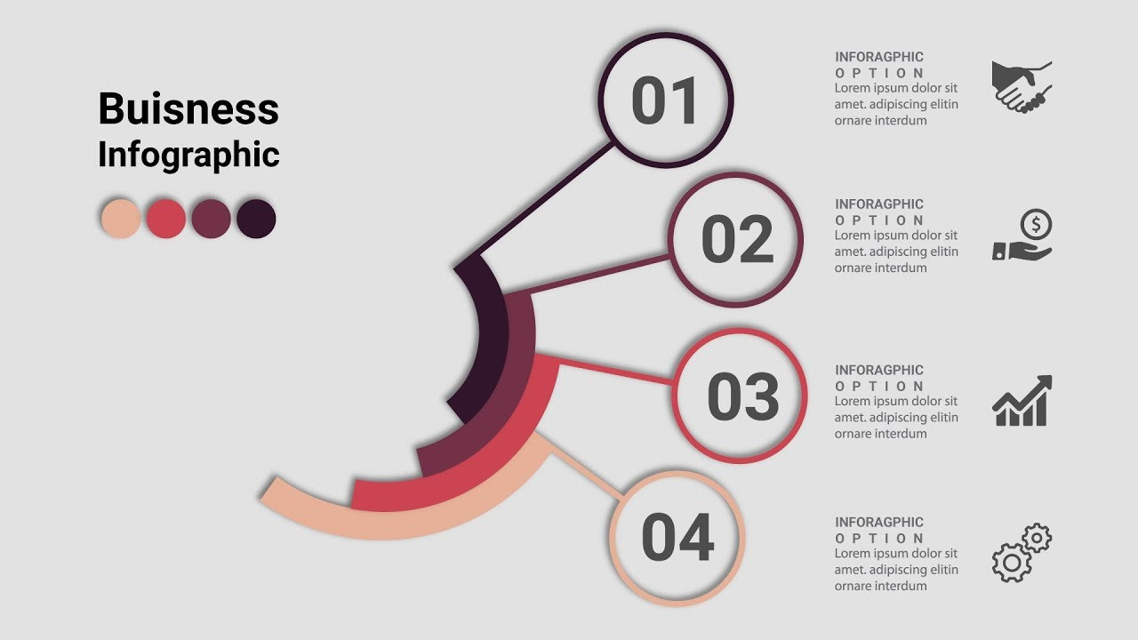 1280x720 Business Infographics Creative Design Vector Free Download