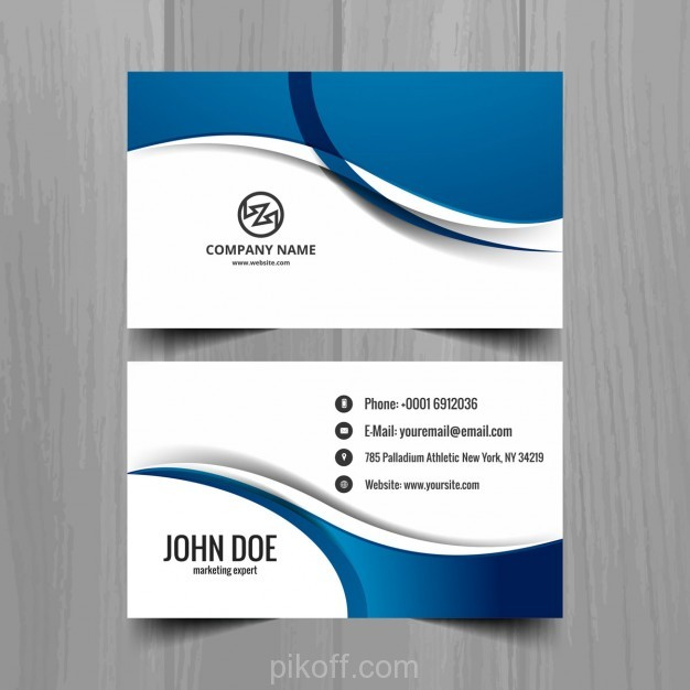 626x626 Ai Blue Wavy Business Card Vector Free Download 2018 Business