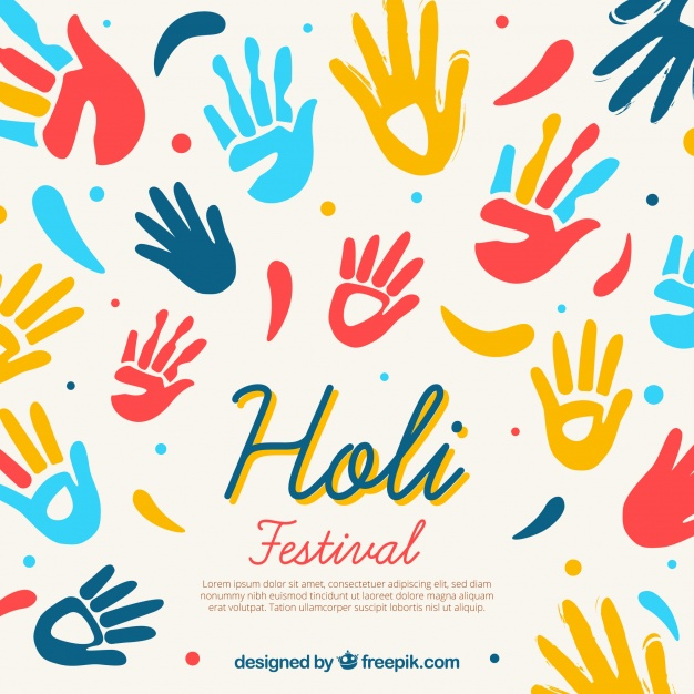 626x626 Ai] Holi Festival Background In Flat Design Vector Free Download