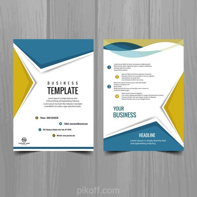 626x626 Ai] Modern Brochure Design Vector Free Download