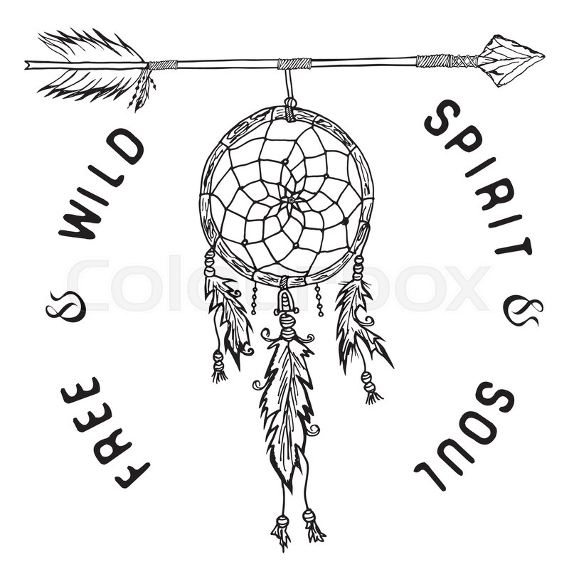 800x800 Dream Catcher And Arrow, Tribal Legend In Indian Style