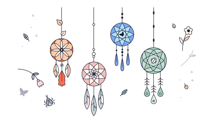photograph about Legend of the Dreamcatcher Printable named Totally free Dreamcatcher Vector at  No cost for