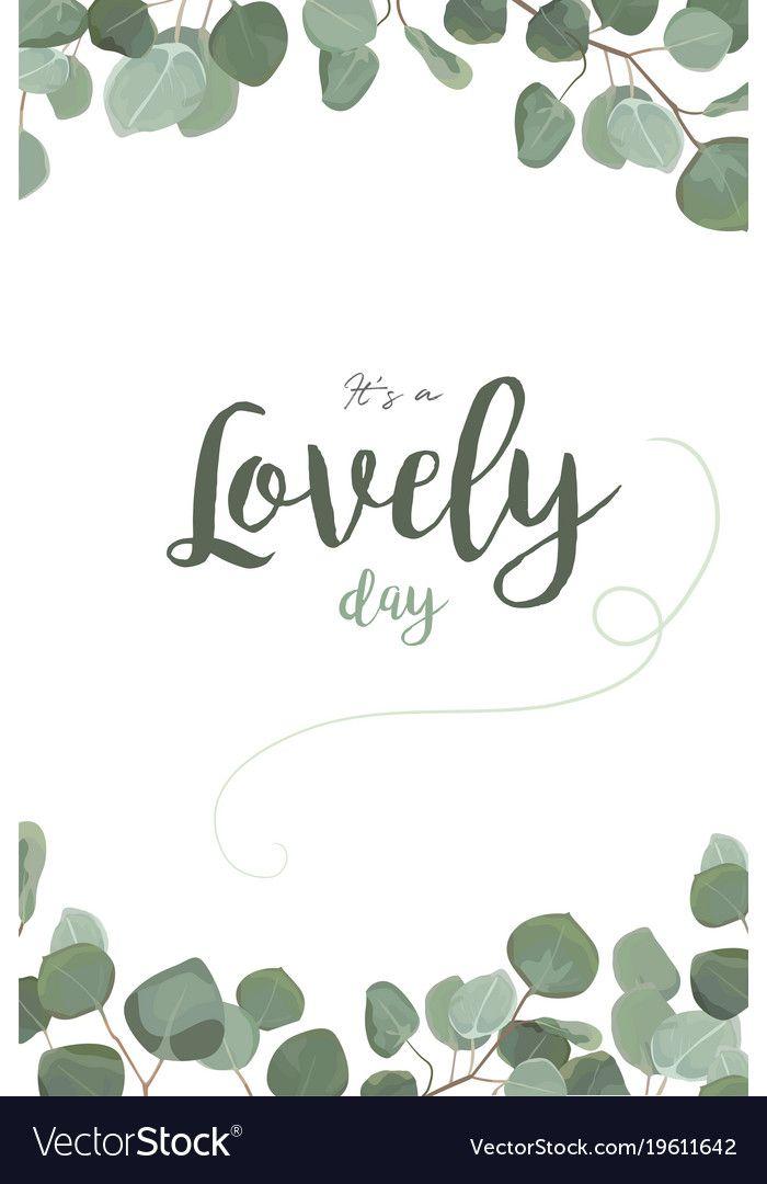 700x1080 Vector Floral Card Design With Eucalyptus Silver Dollar Greenery