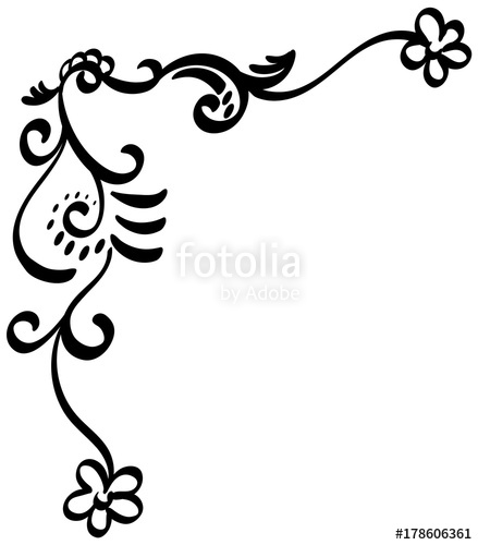 439x500 Filigree Corner Stock Image And Royalty Free Vector Files On