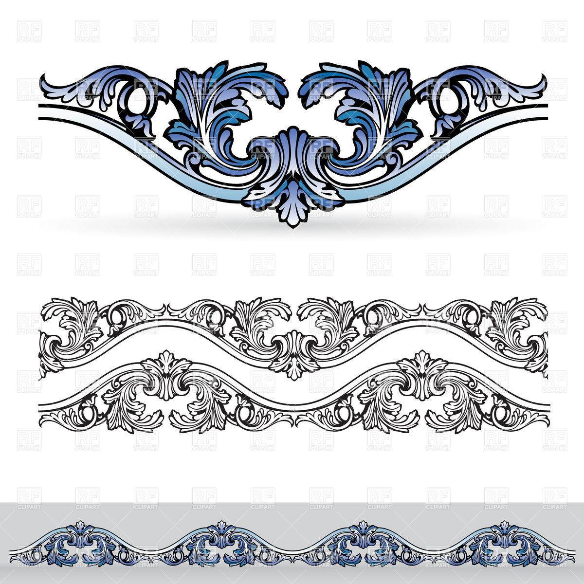 1200x1200 Floral Design Elements Vector Image Vector Artwork Of Borders