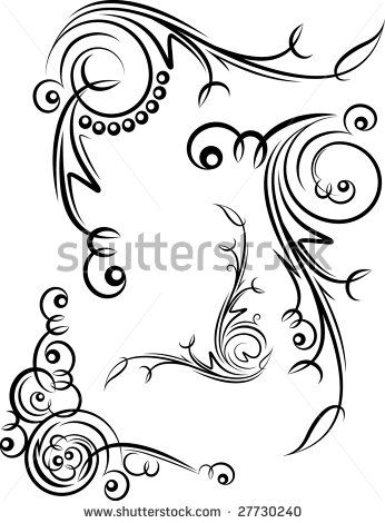 346x470 Free Filigree Designs Elements For Design Or Tattoo. Stock