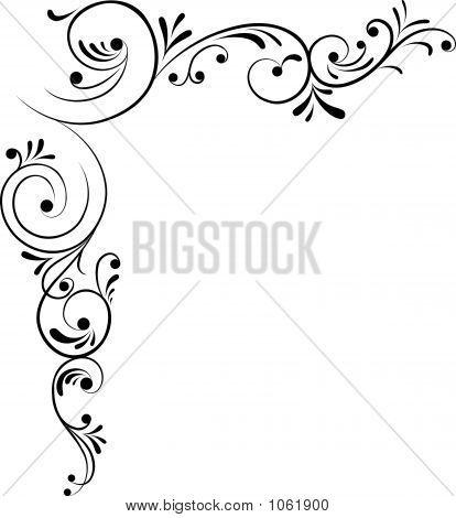 414x470 Free Filigree Patterns Element For Design, Corner Flower, Vector
