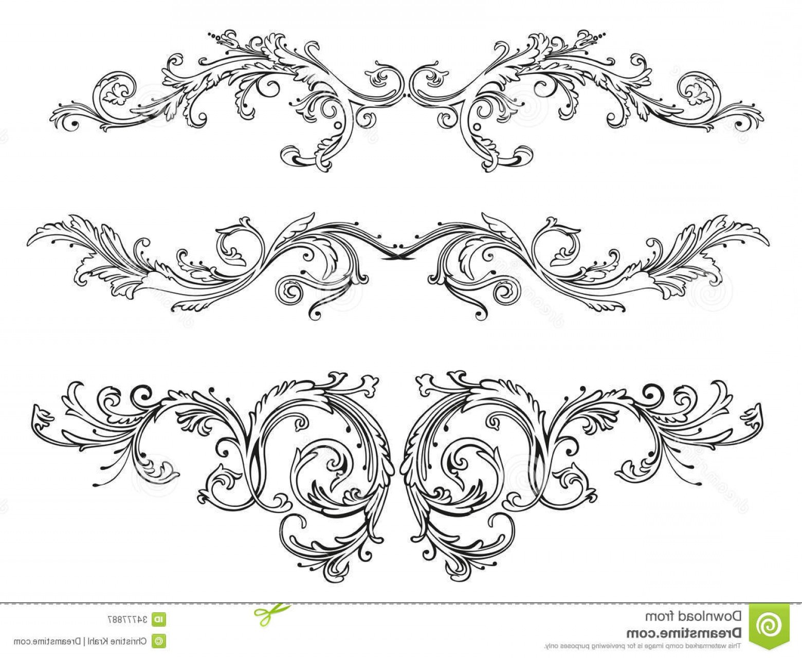 1560x1280 Royalty Free Stock Photography Vintage Floral Border Tendril