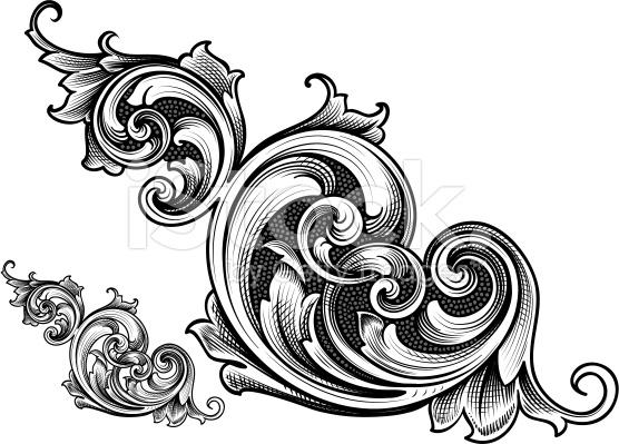 556x399 Victorian Filigree Clipart