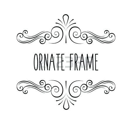 450x420 Flourish Frame Calligraphic Flourish Frame Decorative Ornate
