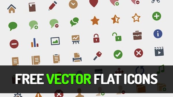 600x335 64 Free Vector Flat Icons Freebies