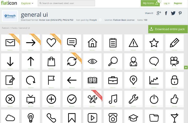 800x522 10 Quality Free Flat Icon Sets For Your Designs Sitepoint