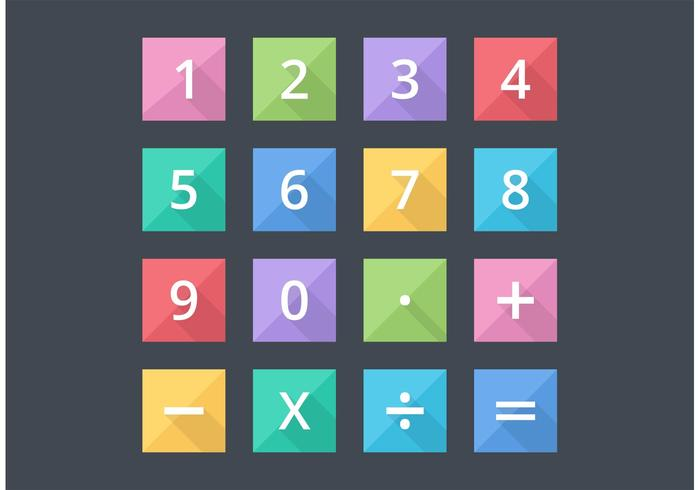 700x490 Free Numbers And Mathematical Flat Vector Icons