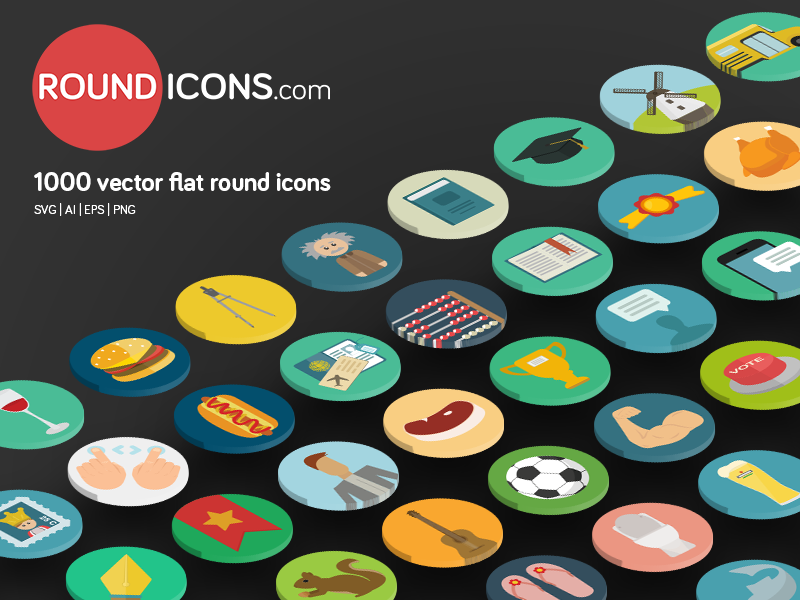 800x600 1000 Flat Vector Icons Set By Ramy Wafaa
