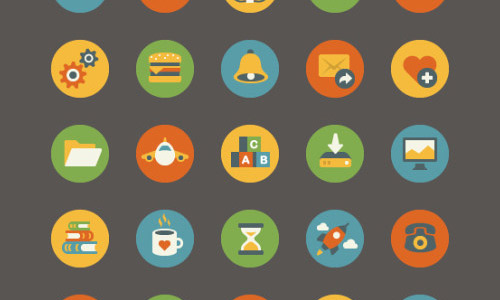 500x300 Simplistic Yet Beautiful Free Flat Icons For Your Designs Naldz