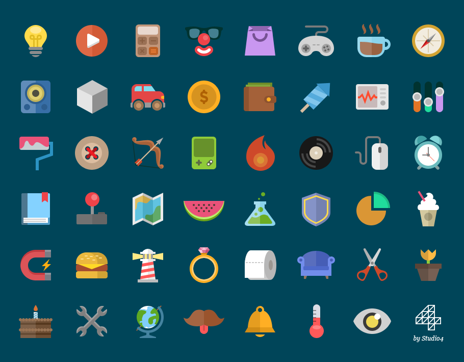 910x710 Vector Flat Icons Icons Graphic Design Junction