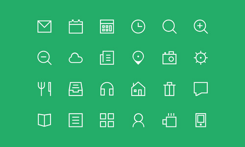 500x300 Vector Flat Psd Icons