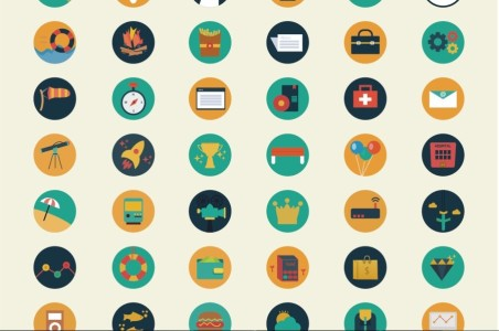 452x300 110 Flat Icons Vector Eps Free Download Free Psd,vector,icons