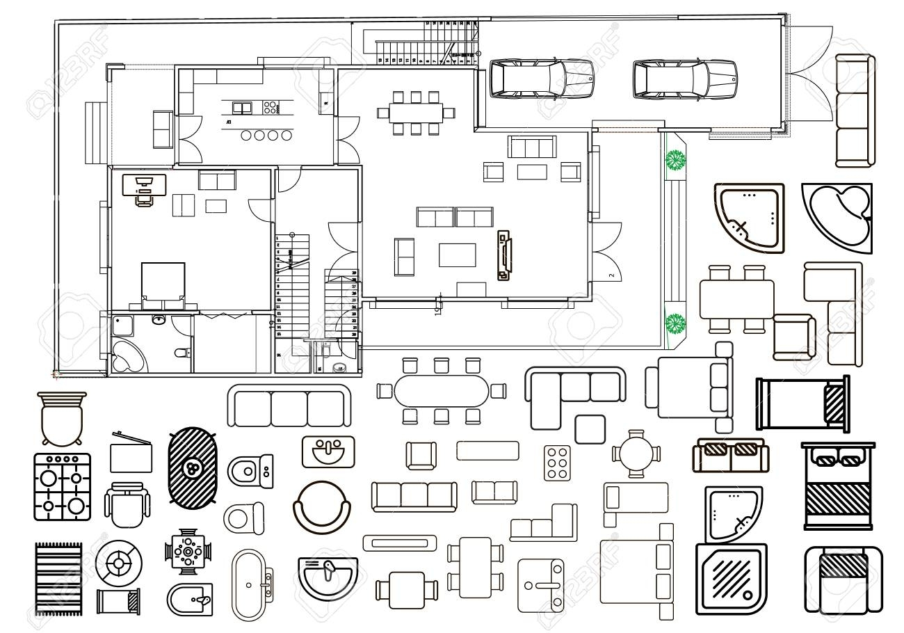 Free Floor Plan Vector