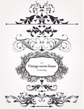 328x425 Europeanstyle Floral Border And Decorations 02 Vector Vector