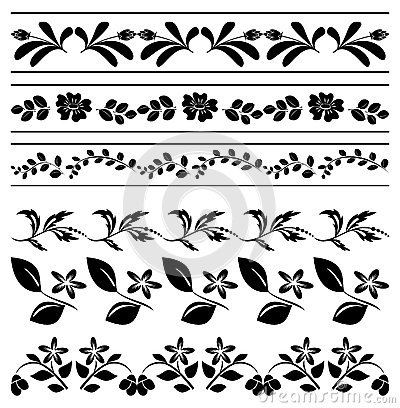400x408 Floral Borders Free Download