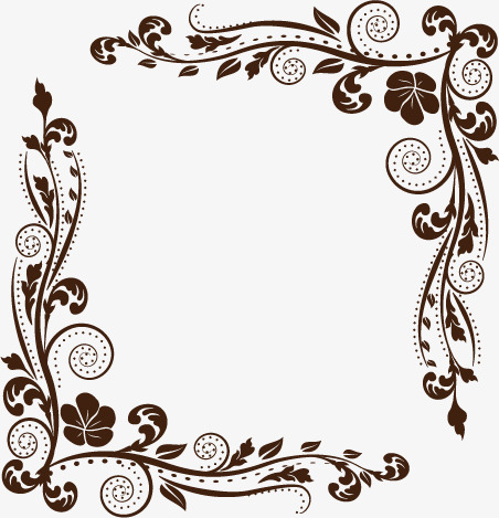 452x469 Vector Flower Border, Flower Vector, Border Vector, Free Png Png