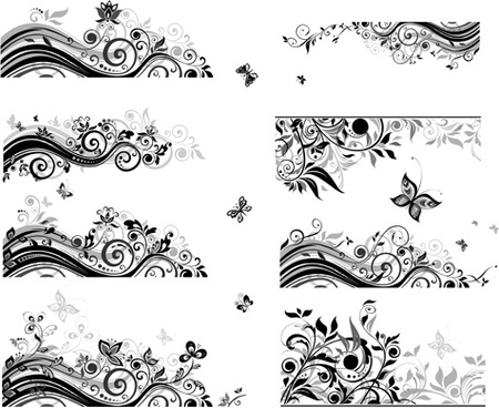 450x368 Vector Floral Border Free Vector Download (12,001 Free Vector) For