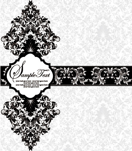442x504 Vector Of Exquisite Vintage Floral Borders Free Vector In