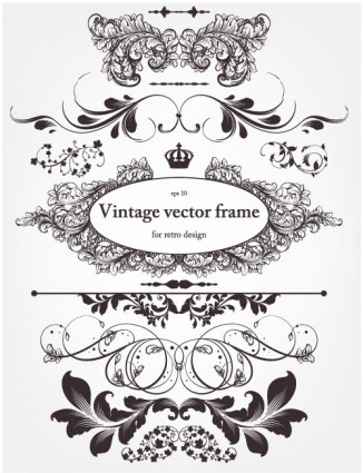 326x425 Europeanstyle Floral Border And Decorations 01 Vector Vector