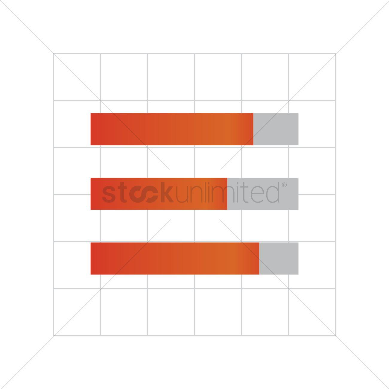 1300x1300 Free Horizontal Bar Graph On Graph Paper Vector Image