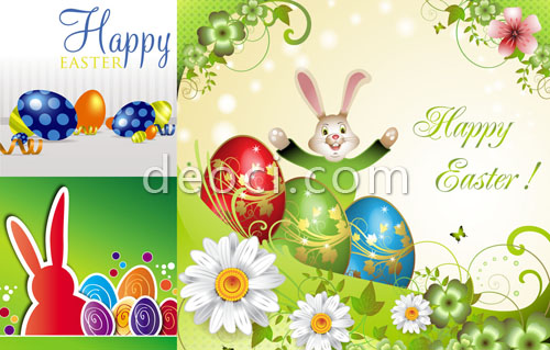 500x319 3 Free Easter Theme Background Design Template Illustrator Vector