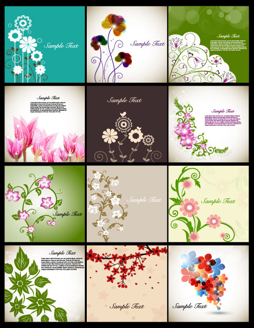 524x675 Classic Flowers Illustrator Vector Download Free Vectors Graphic
