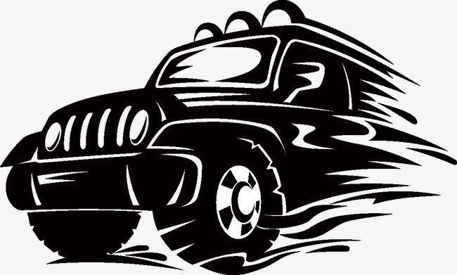650x391 Creative Suv Advertising Illustrator Vector Material, Jeep Icon