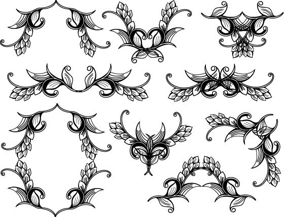 560x428 Floral Vector Set Free Illustrator Vectors Cards And Paper