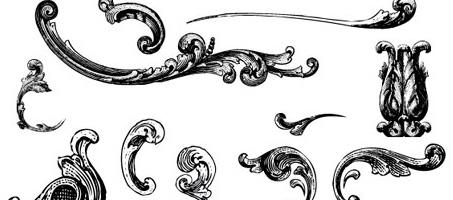 453x200 Free Illustrator Vectors Engraved Vintage Ornaments Design Chair