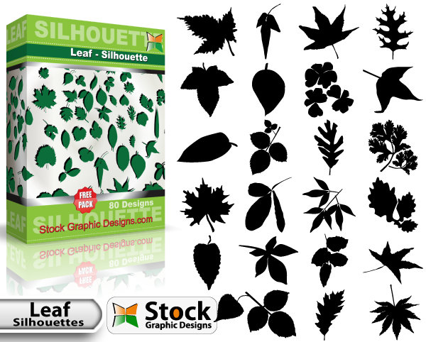 600x482 Leaf Silhouettes Free Vector Amp Brush Pack Vector Amp Photoshop