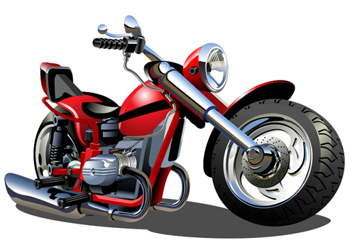 500x345 Vintage Motorcycle Illustration Design Vector 06
