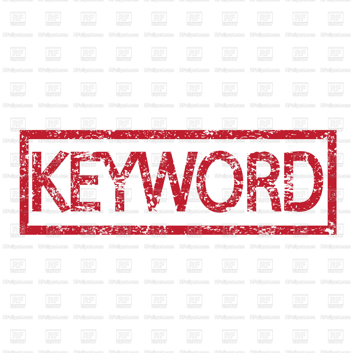 1200x1200 Stamp Text Keyword Vector Image Vector Artwork Of Fonts Amp Type