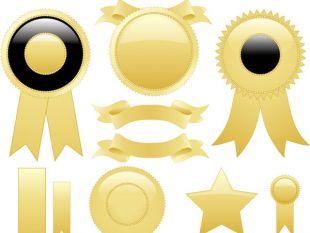 310x233 89508 Free Keyword Vector Gold Ribbon Graphics Tag Ui Download