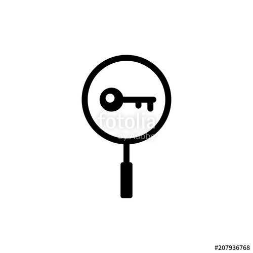 500x500 Keyword Icon Vector Illustration Stock Image And Royalty Free