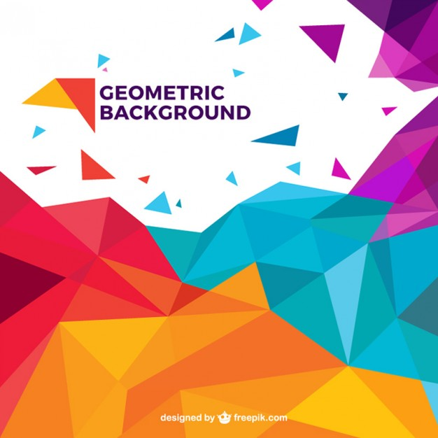 626x626 Colorful Geometric Background Vector Free Download