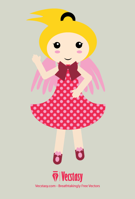468x690 Free Vector Angel Doll Girl Character In Svg Download Free Vector
