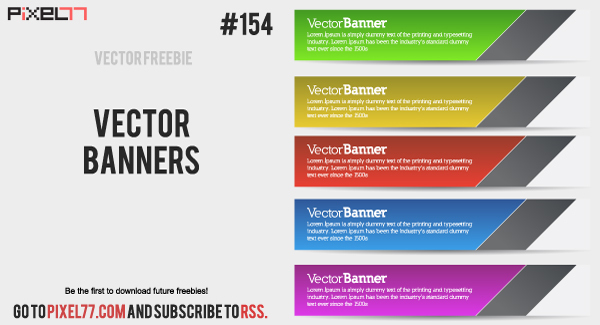 600x325 Free Download Of Vector Banners