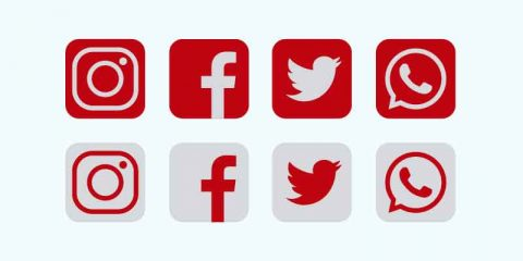 480x240 Globe Icons Collection Design Free Vector File Download