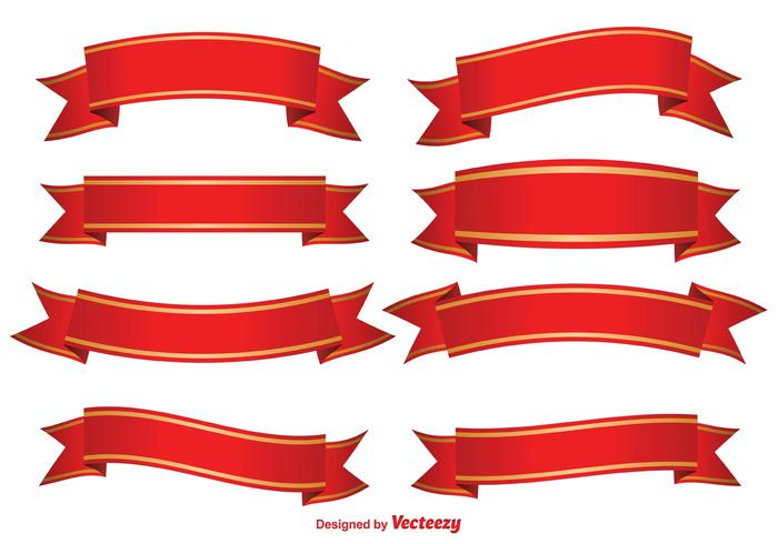 700x490 Red Decorative Banners
