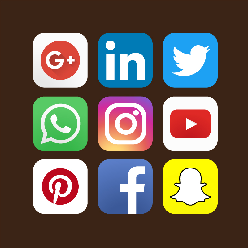 801x801 9 Social Media Marketing Pack Icons Design Free Vector File
