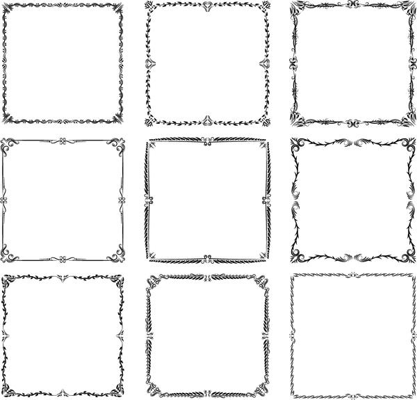 600x575 Exquisite Frames Vector Set 02 Free Download